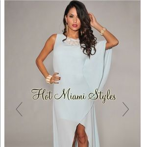 One Dolman Sleeve High Low Maxi Dress